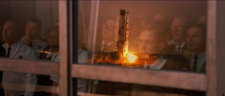 Neil Armstrong watching launch